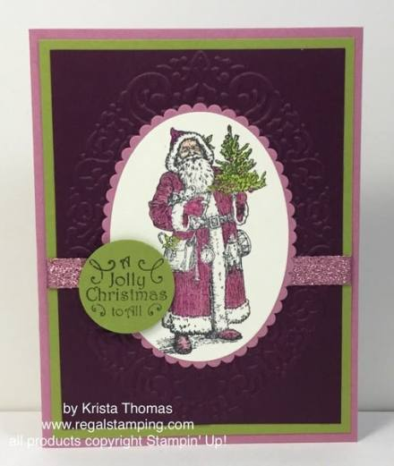 Father Christmas by Krista Thomas, www.regalstamping.com, all products by Stampin' Up!
