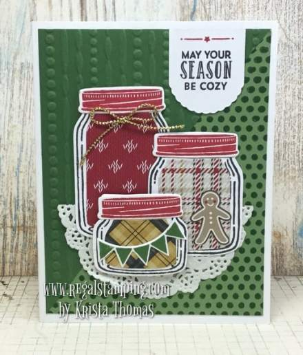 Jars of Love for Christmas by Krista Thomas, www.regalstamping.com, all products by Stampin' Up!
