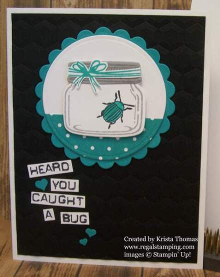 Beetles & Bugs with Jar of Love for PCC224 by Krista Thomas, www.regalstamping.com