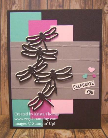 Detailed Dragonfly Thinlits Card by Krista Thomas, www.regalstamping.com