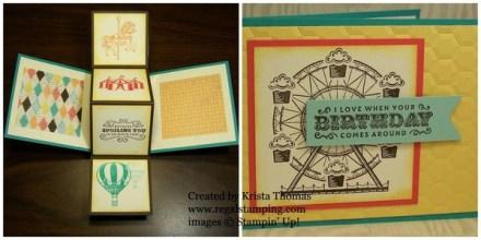 Pop & Twist Carousel Birthday Card by Krista Thomas, www.regalstamping.com