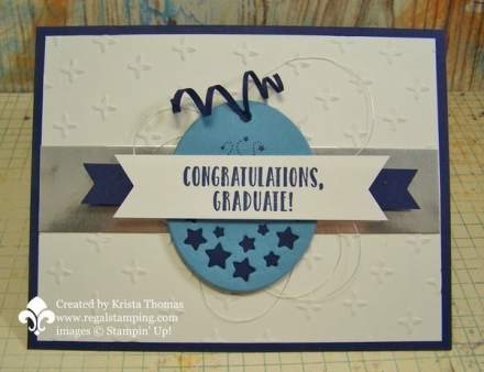 Graduation Card using Timeless Tags and Suite Sentiments, by Krista Thomas, www.regalstamping.com