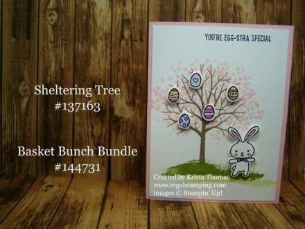 Sheltering Tree & Basket Bunch Bundle, Stampin' Up Easter card