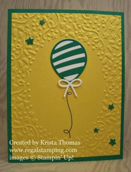 Balloon Pop-Up Card by Krista Thomas