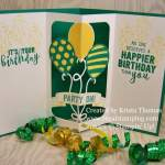 Balloon Pop-Up Thinlit Card with Instructions