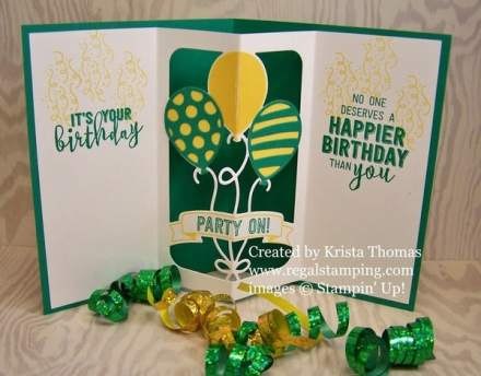 Balloon Pop-Up Thinlit Dies and Balloon Adventures stamp set in Oregon Duck colors!