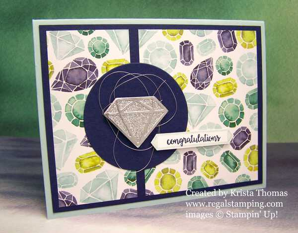Eclectic Layers Diamond by Krista Thomas, www.regalstamping.com