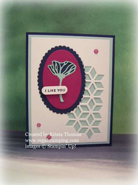 Inlaid Eclectic Flower by Krista Thomas, www.regalstamping.com