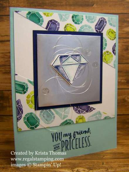 Priceless Eclectic Diamond by Krista Thomas, www.regalstamping.com