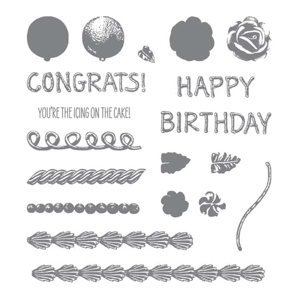 Icing on the Cake, Frosting stamps, Stampin' Up #143664