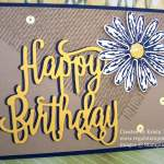 Happy Birthday on Burlap, a Clean & Simple Card