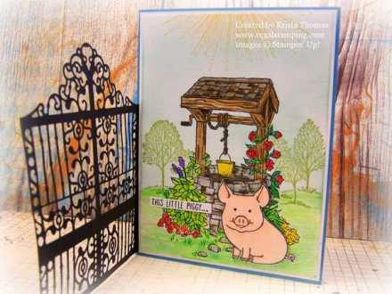 Gated Garden with Bright Wishes and This Little Piggy, www.regalstamping.com