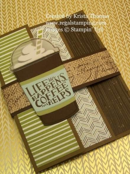 Coffee Cafe Triple Fold Tutorial, www.regalstamping.com