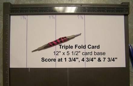 Triple Fold Tutorial, www.regalstamping.com