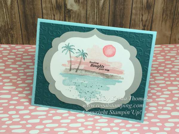 Waterfront Beauty by Krista Thomas, www.regalstamping.com, Stampin' Up 2018 Occasions Catalog