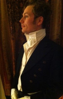 Cravat and high collared waistcoat