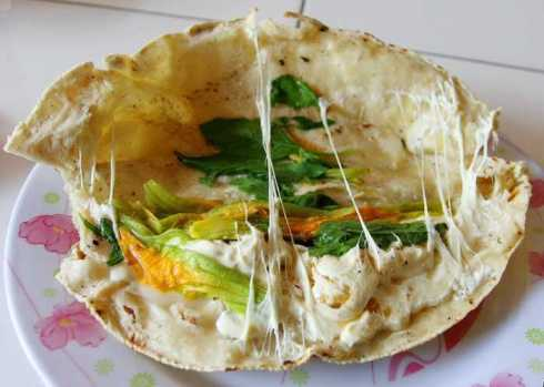 Quesadilla con flor de calabaza ¡deliciosa! Foto: Internet