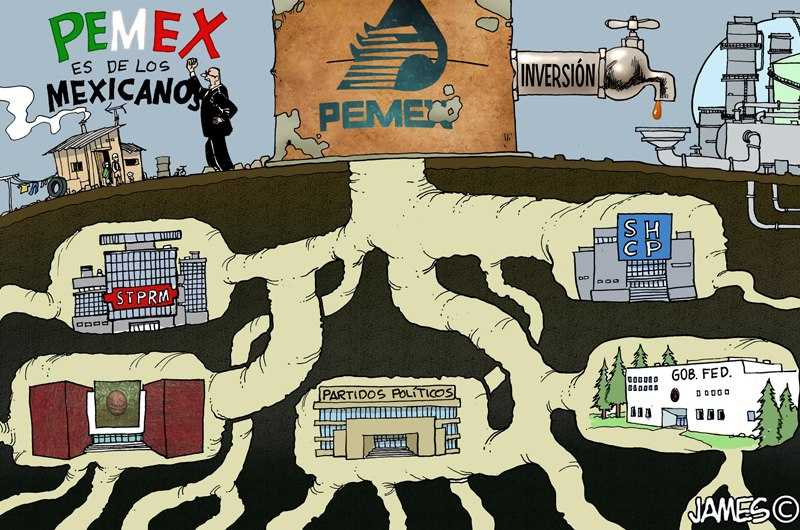 Caricatura Pemex