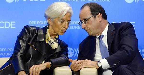 Christine Lagarde hollande francia fmi