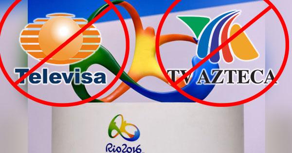televisa tv azteca fuera de juegos olimpicos rio