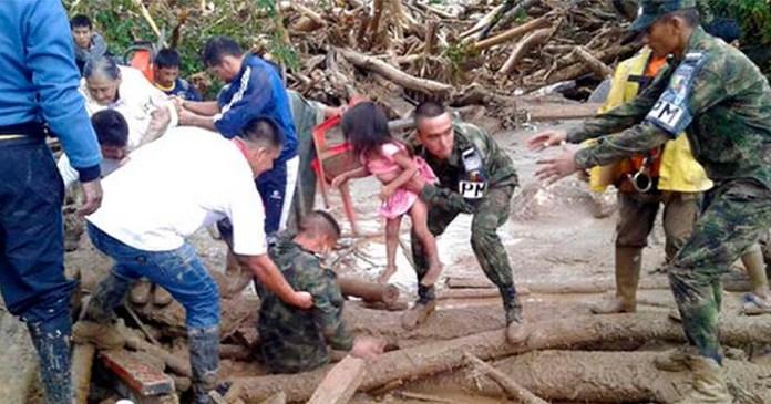 colombia muertos heridos desaparecidos deslave avalancha