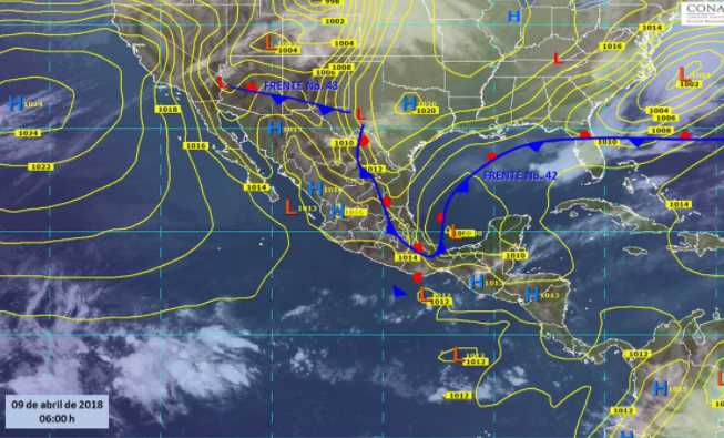 fenomenosmeteorologicos - Durante las próximas horas lluvias afectaran a ocho estados del país