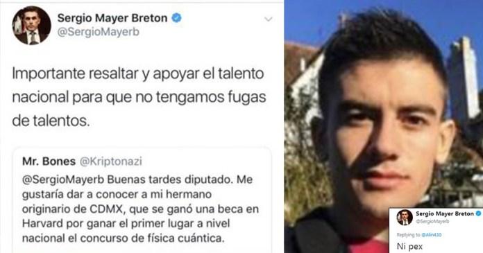 Sergio Mayer también cae en trampa y tuitea foto de actor pornográfico