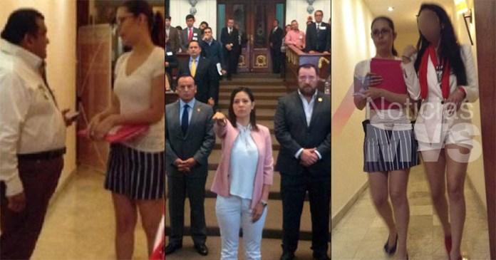 Sandra Vaca, reclutadora de jóvenes para red de trata del PRI, está en el Congreso
