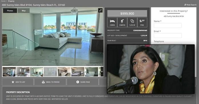 Alejandra Barrales puso a la venta su depa en Miami por un millón de dólares