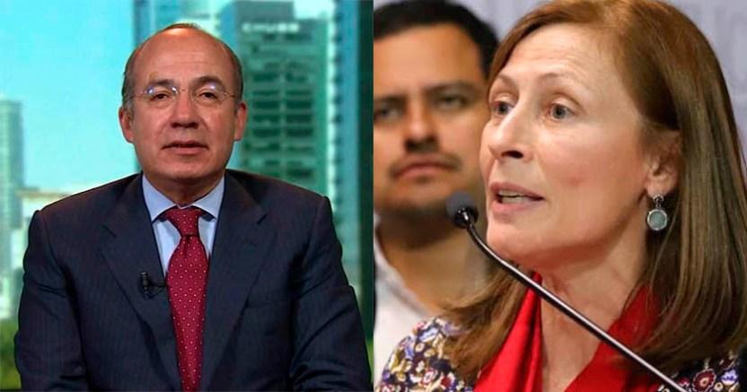 Felipe Calderón da pena jugando de reportero  Tatiana Clouthier - 'Calderón da pena jugando al analista'; Tatiana Clouthier lo tunde en redes