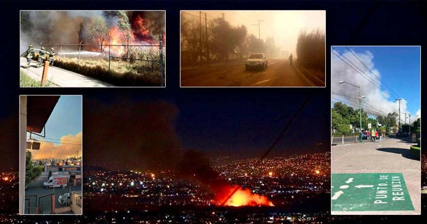Fuerte incendio en Xocimilco y otras cuatro alcaldías en un solo día - Fuerte incendio en Xochimilco y otras cuatro alcaldías en un solo día