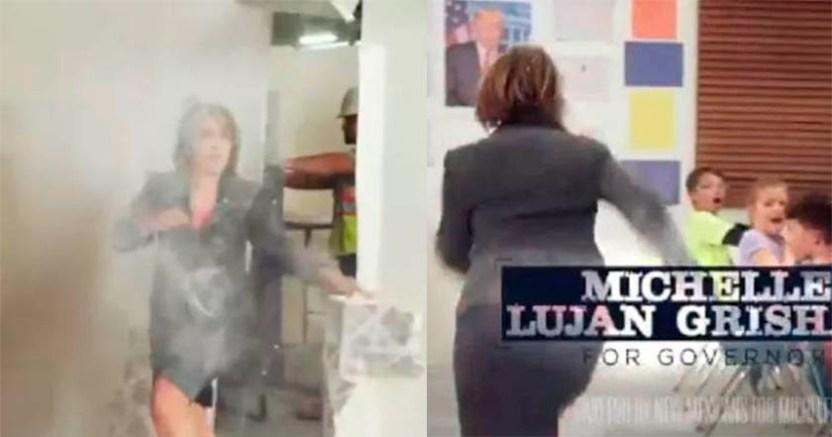 Gobernadora en EU protesta contra Trump rompe muros video - Gobernadora en EU protesta contra Trump, rompe muros (video)
