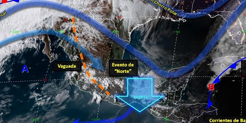 frio 13feb - Lluvias y bancos de niebla, al norte nevadas y tormentas