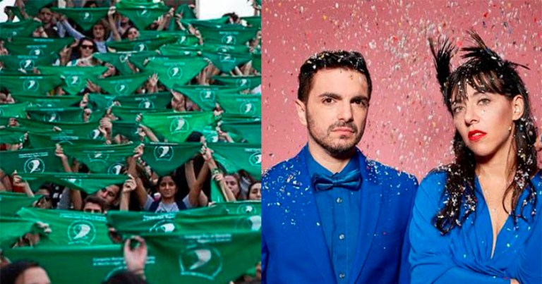 Miranda! se posiciona a favor del aborto con pañuelo verde en Vive Latino