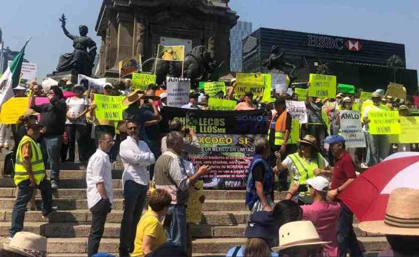 amlo1000 - Realizan manifestación 'masiva' contra AMLO por 100 días