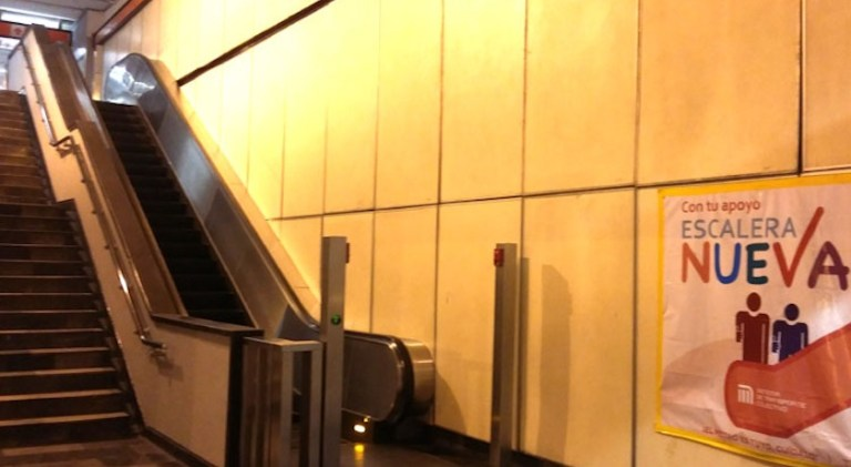 Este viernes volverán a funcionar escaleras de la Línea 7 del Metro