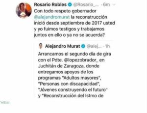 rosario robles se deslinda de tuit 300x230 - Rosario Robles se deslinda de tuit contra Murat por agradecer a AMLO