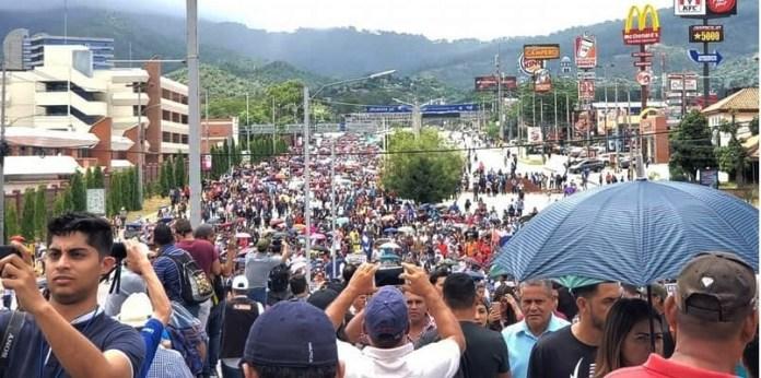 Manifestación en Honduras contra presidente narco