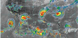 CFE, mapa de lluvias