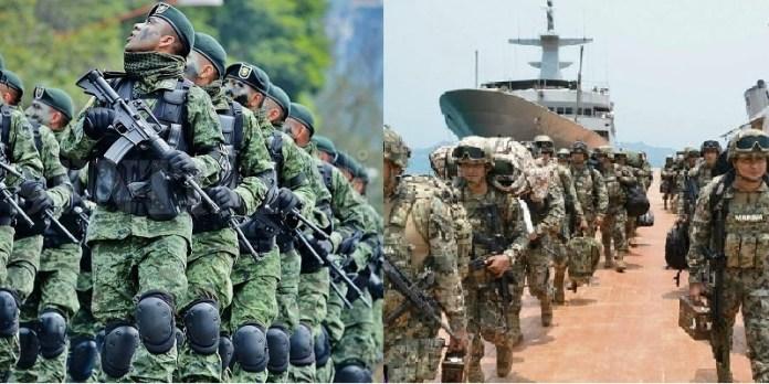 Marina, ejército, México