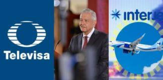 AMLO: Gobierno podría mediar el caso Interjet-Televisa