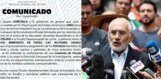 Inician acción legal por fraude, oposición pide inhabilitar a Evo Morales