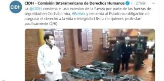 Cochabamba, bajo represión golpista