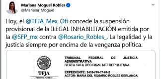 Rosario Robles gana un round