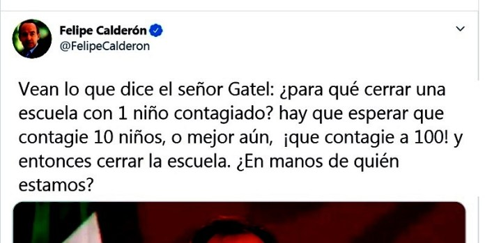 Felipe Calderón insiste en aterrorizar por Covid