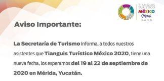 Posponen Tianguis Turístico para 'contribuir a la prevención' del Covid-19