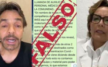Eugenio Derbez también difunde fake news, médica del IMSS lo balconea