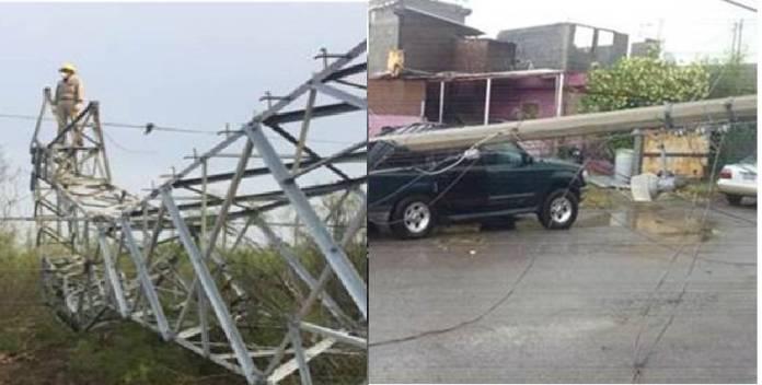 Reparaciones por daños a CFE por mal clima