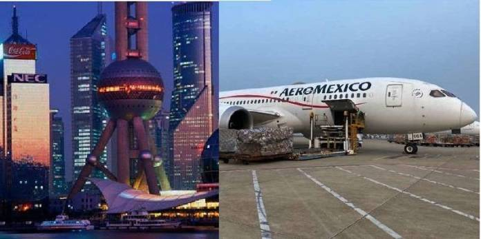 12a conexión Shanghai México
