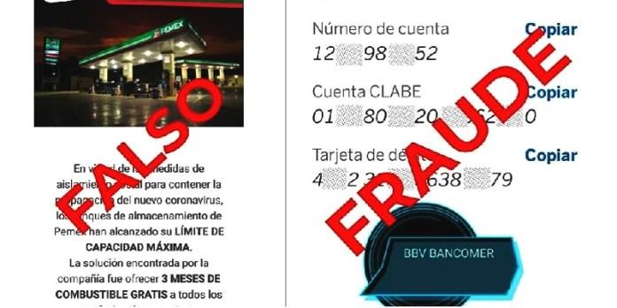 Es totalmente falso bonos de combustible gratuito: Pemex